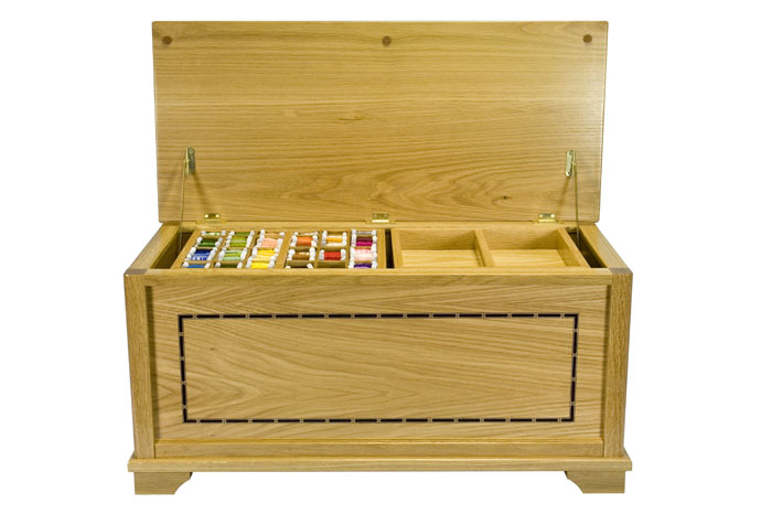 needlecraft wooden box